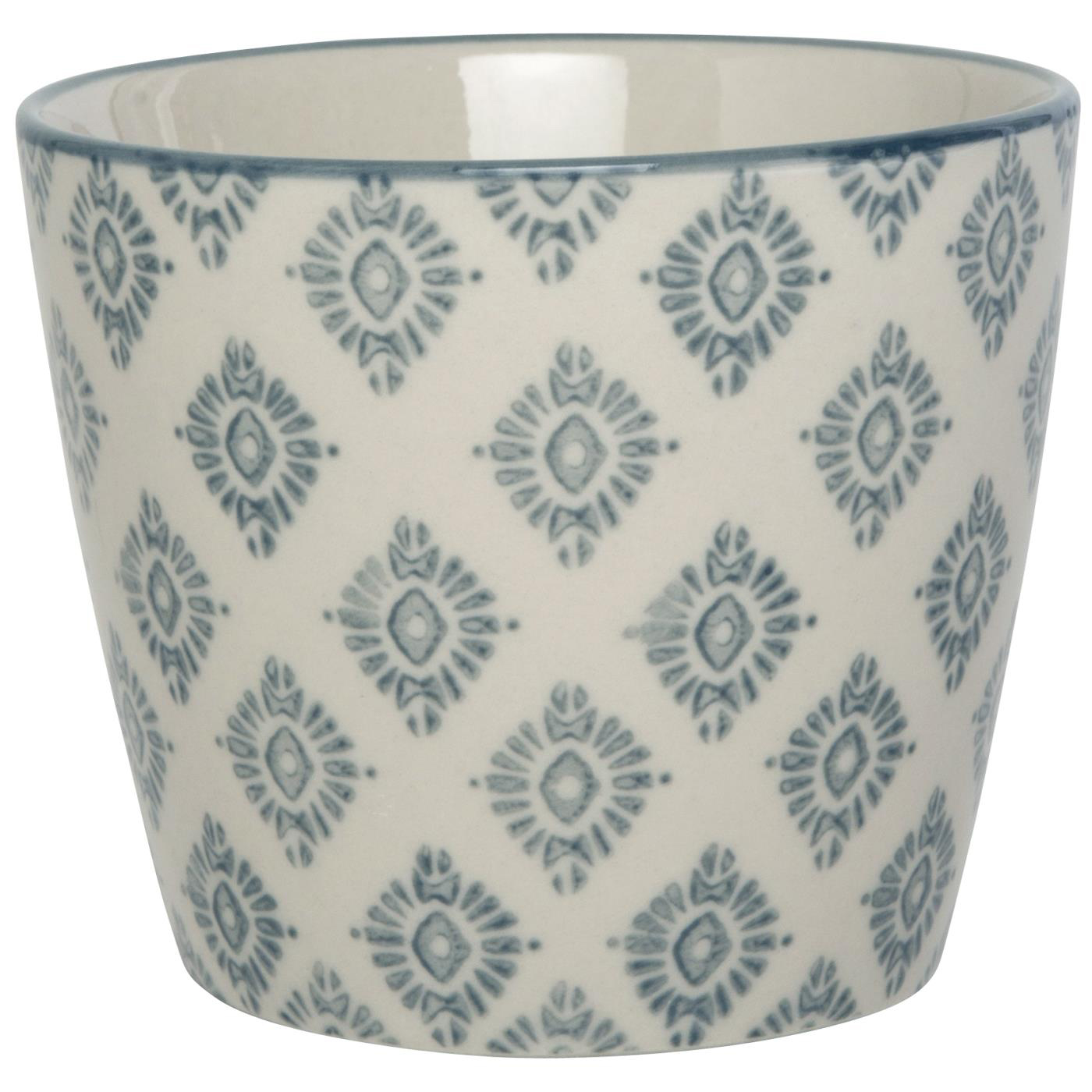 Becher gross - mit grauem Ornament - Muster C - Casablanca - IB Laursen