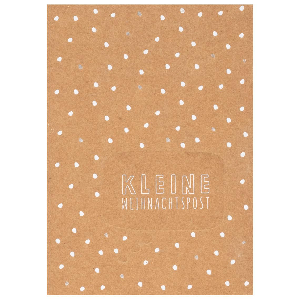 """Sprechblasenpostkarte """"Kleine Weihnachtspost"""" - räder (Xmas)"""