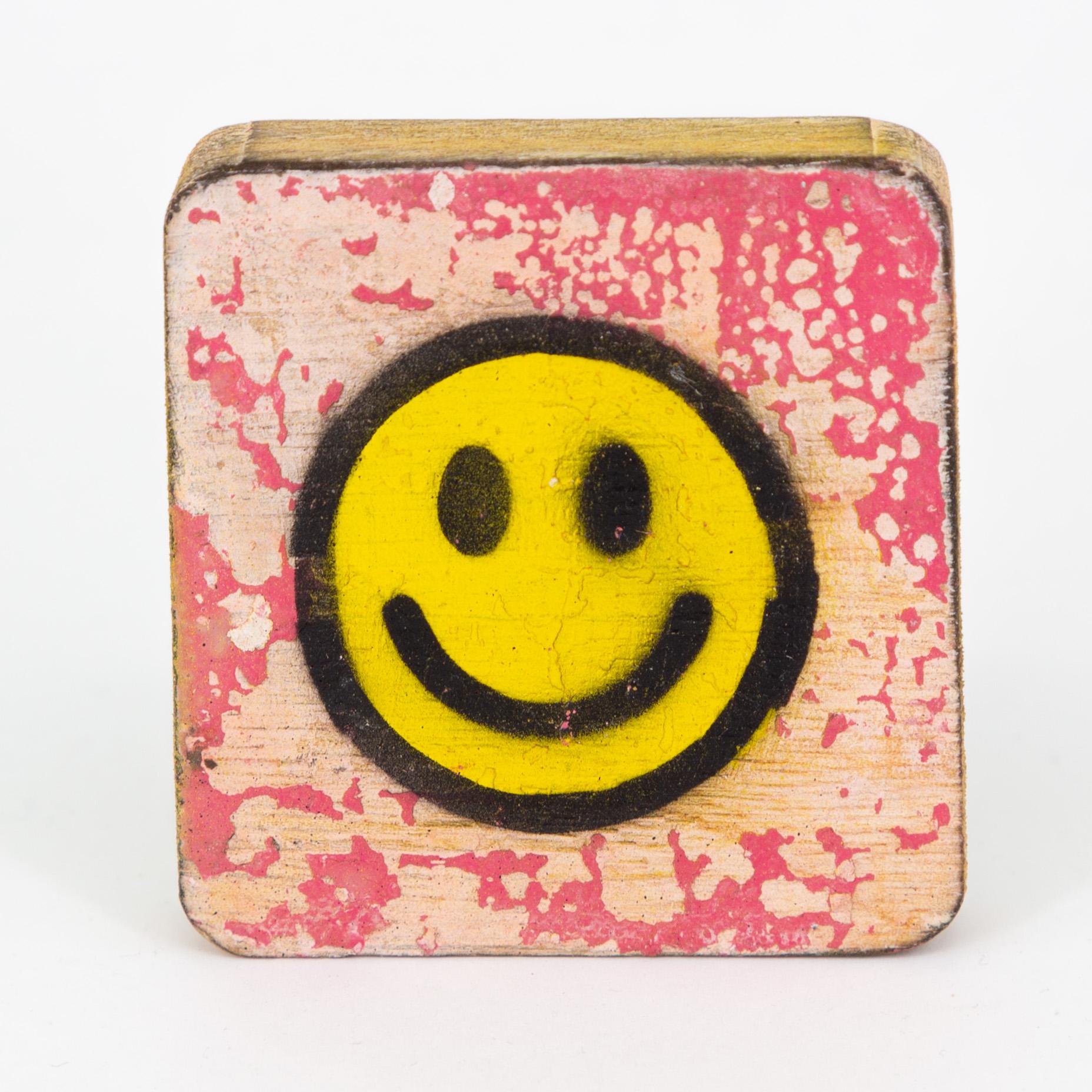 Holzsymbol - Smiley - im Scrabble-Style