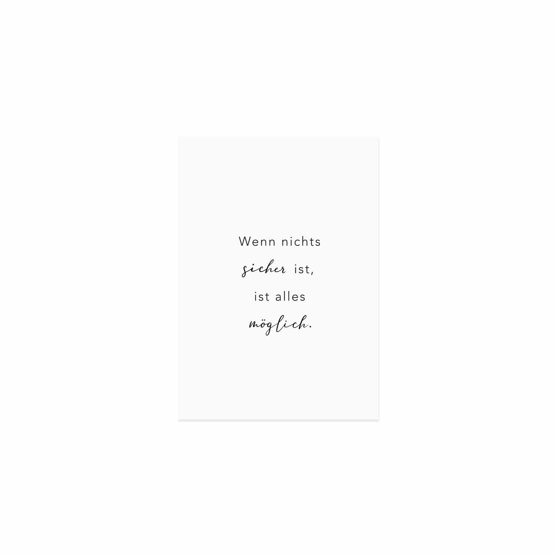 Postkarte - Alles möglich - Eulenschnitt