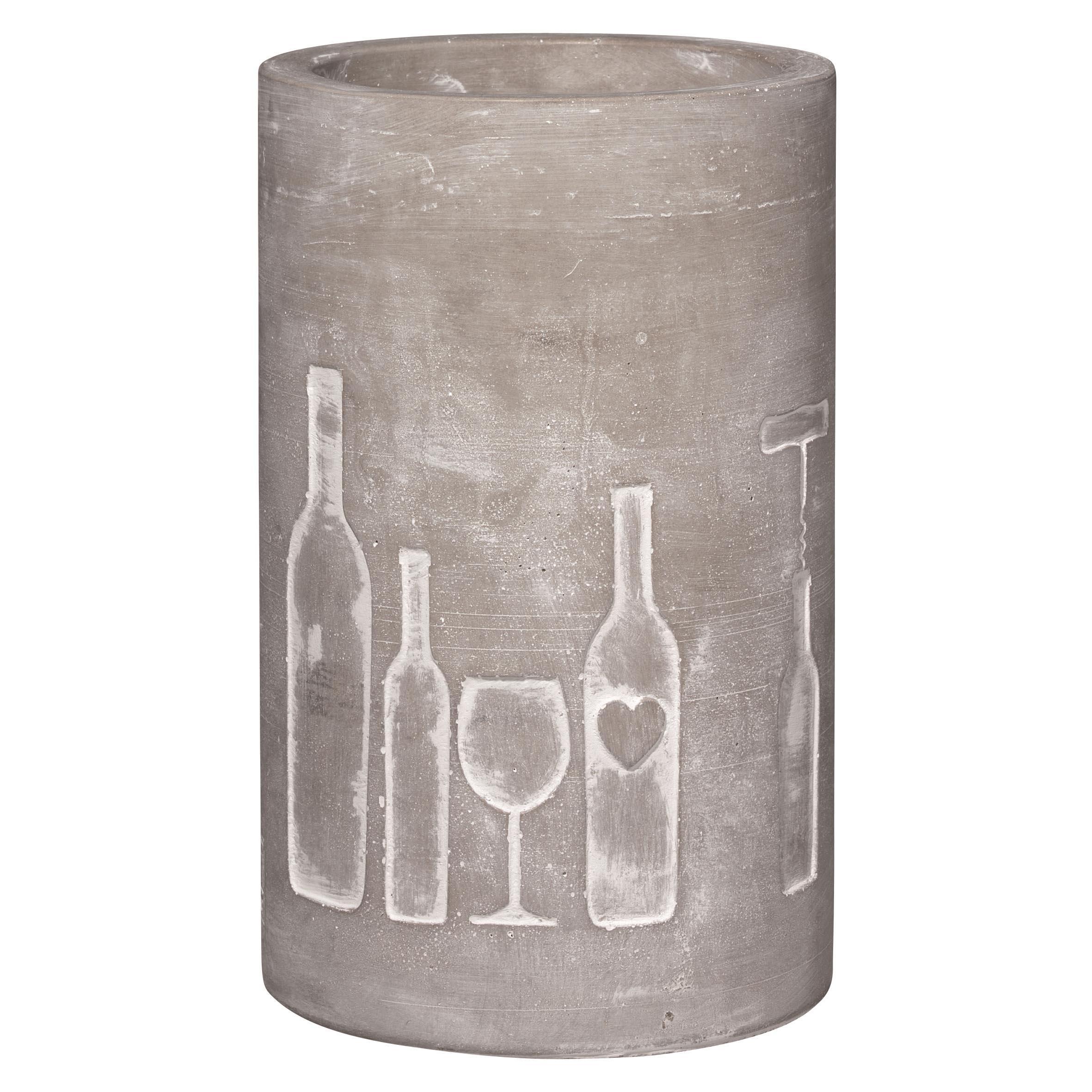 """Weinkühler """"Flasche + Glas"""" - räder"""