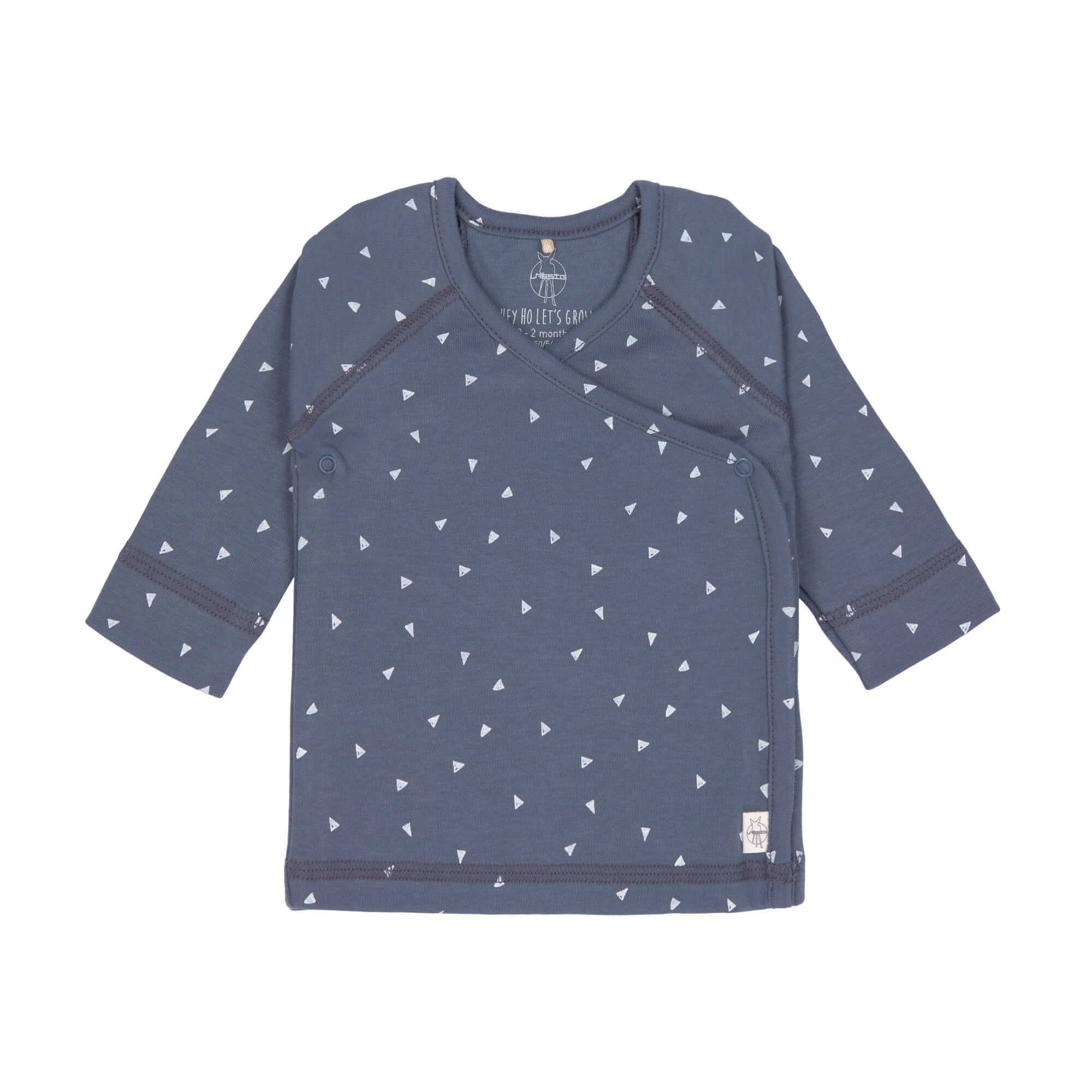 Baby Wickelhemd - Kimono - Triangle Blue - Lässig
