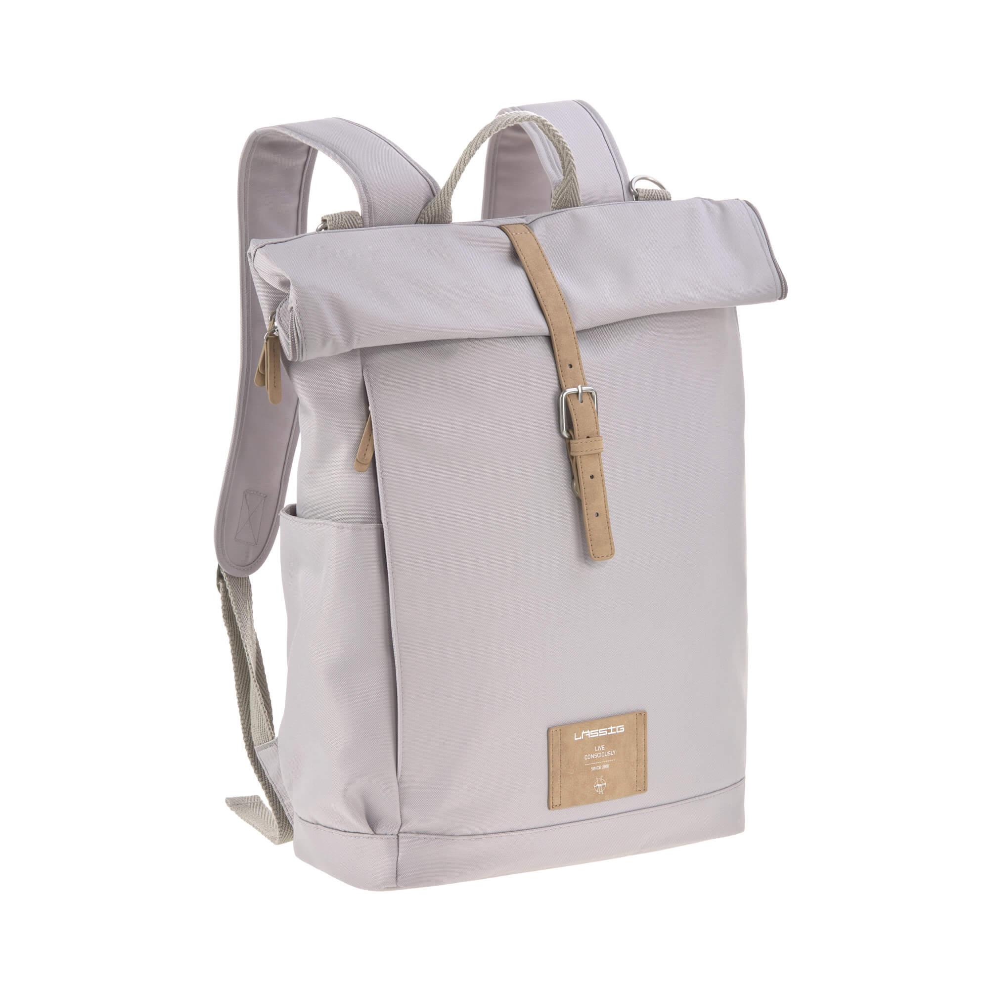 Wickelrucksack - Rolltop Backpack - Grau - Lässig