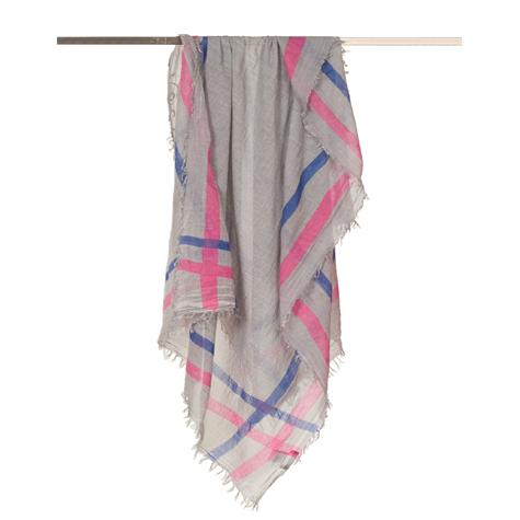 Halstuch | Schal - mit Borderprint - hellblau/pink - Yam Yam Fashion