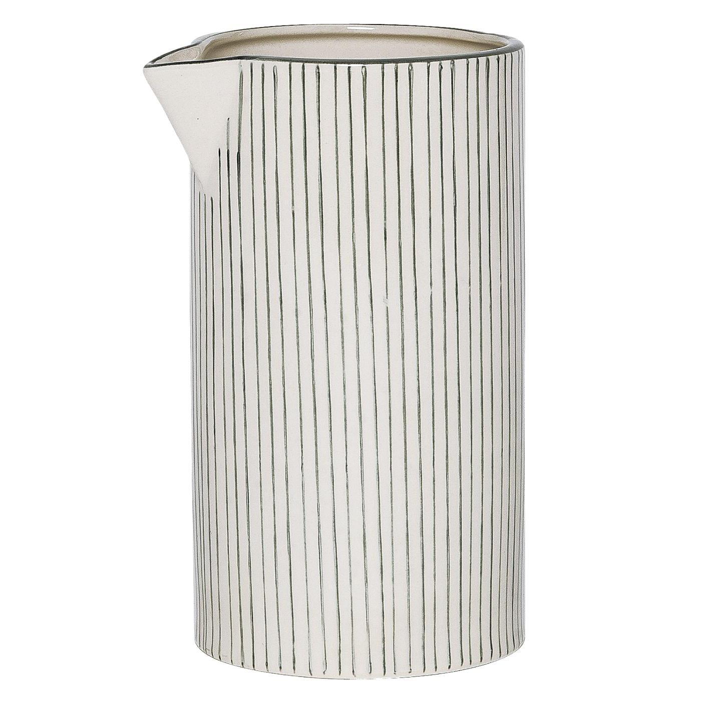 Kanne - mit grauen Streifen - Muster A - 1L - Casablanca - IB Laursen