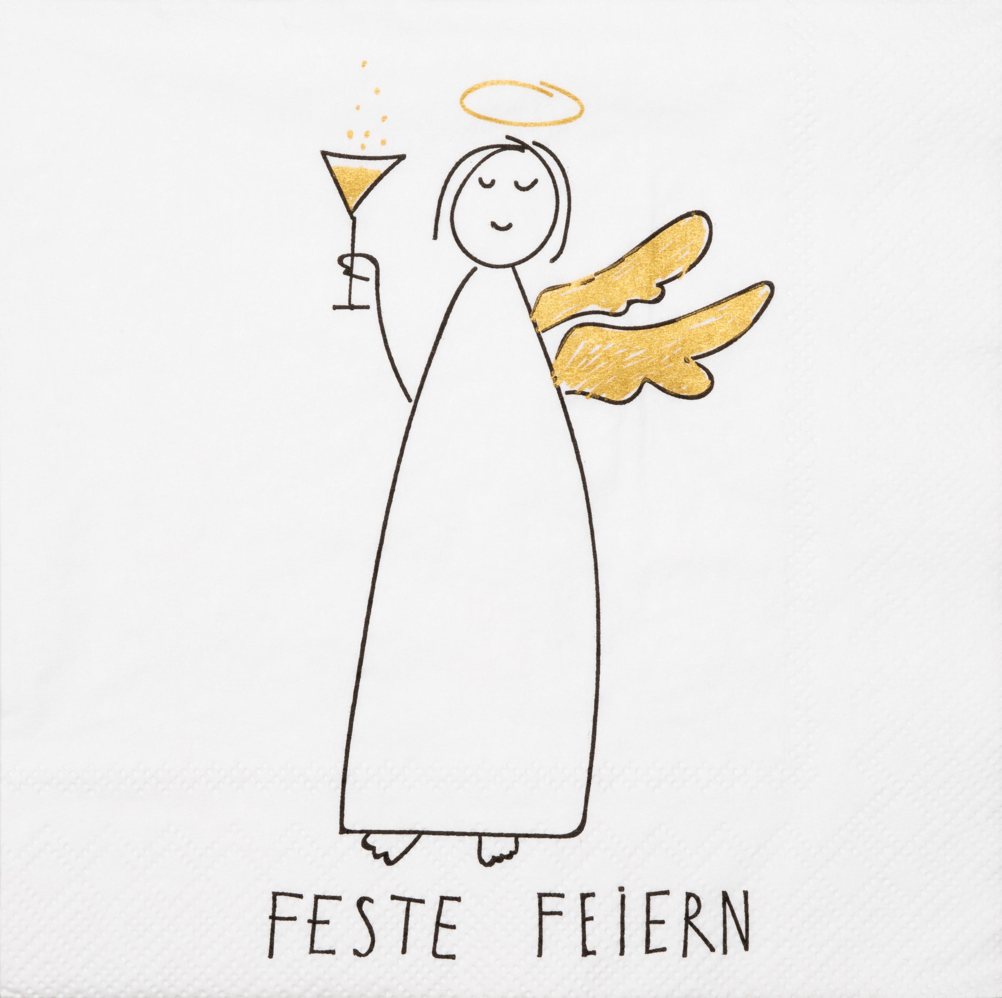 """Papierservietten """"Feste feiern"""" - räder (Xmas)"""
