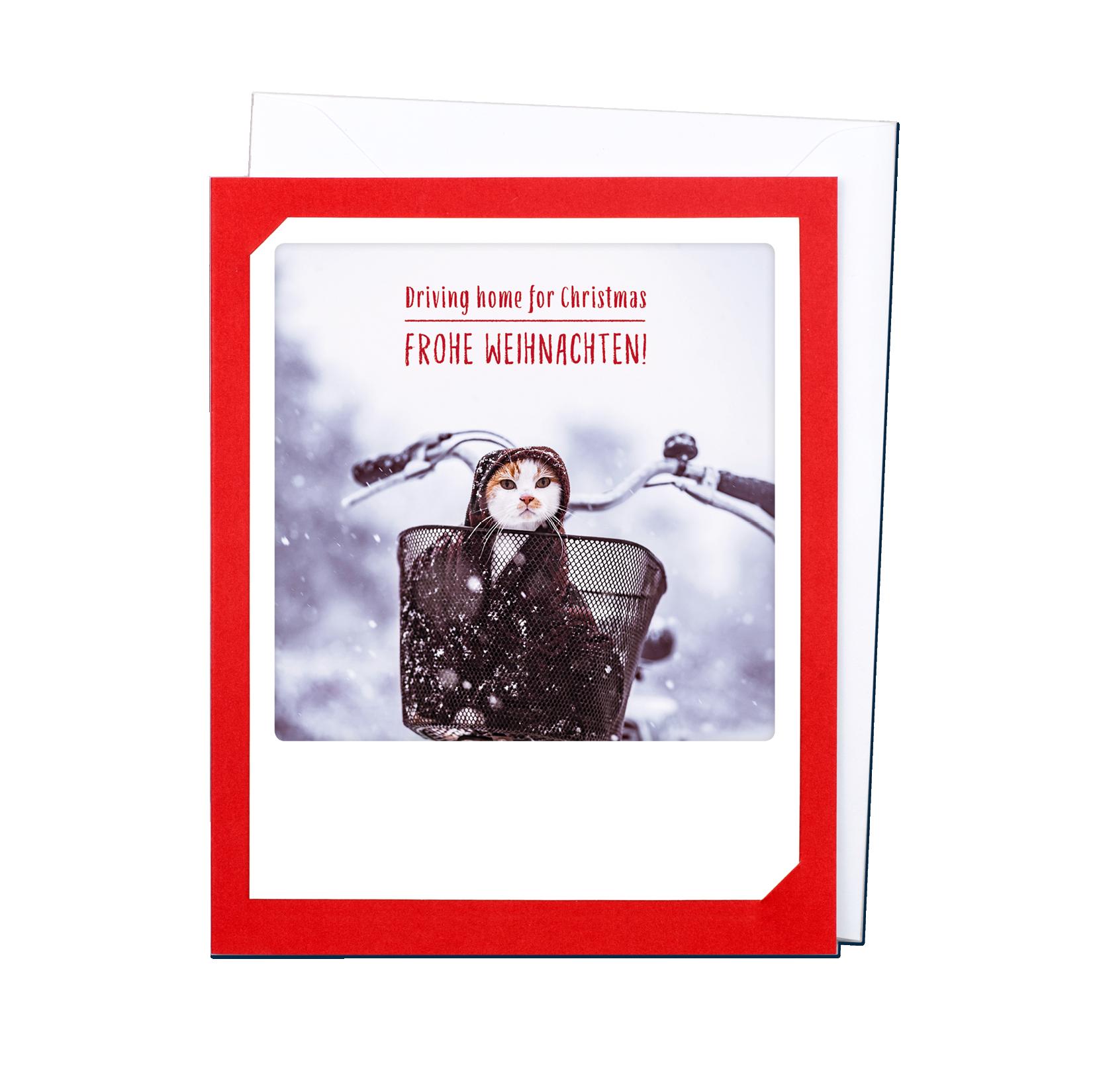 "Photo-Klappkarte ""Driving home for christmas"" - XM-0172-DE-KK - Pickmotion (Xmas)"