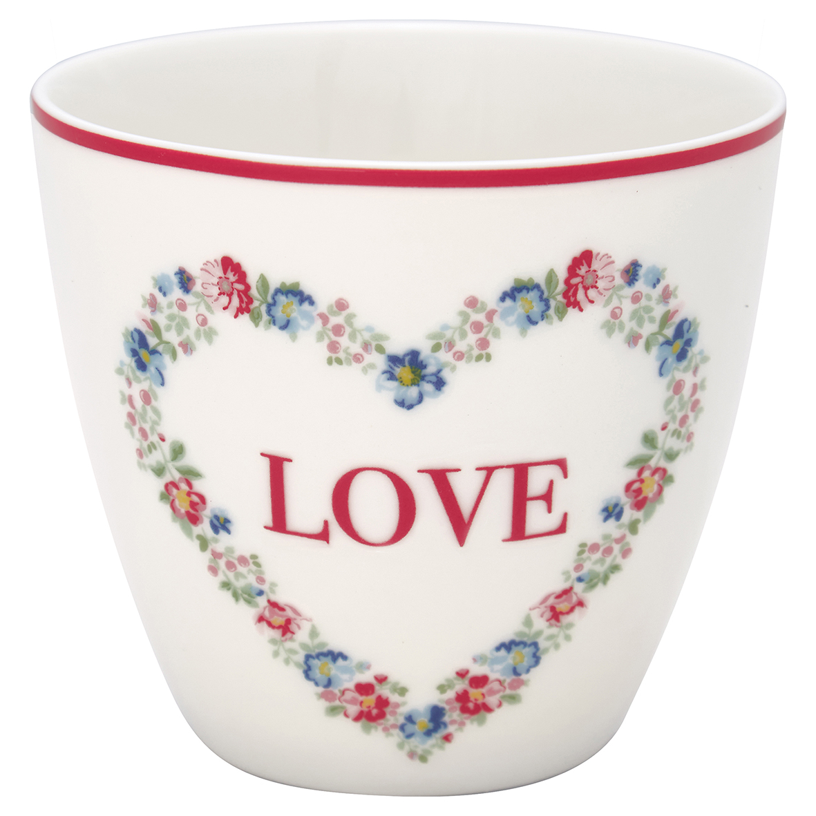 Latte Cup - Heart love white - Greengate