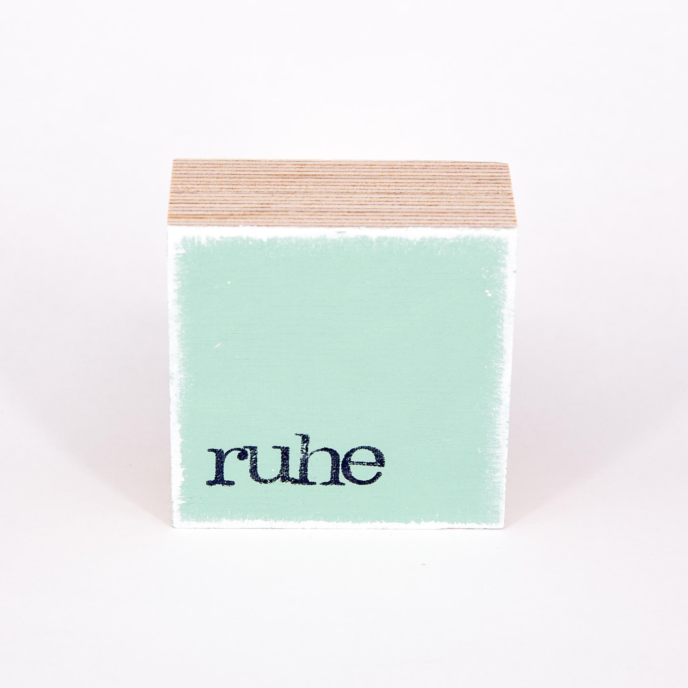 """Mini Textplatte - """"ruhe"""" - iopla"""