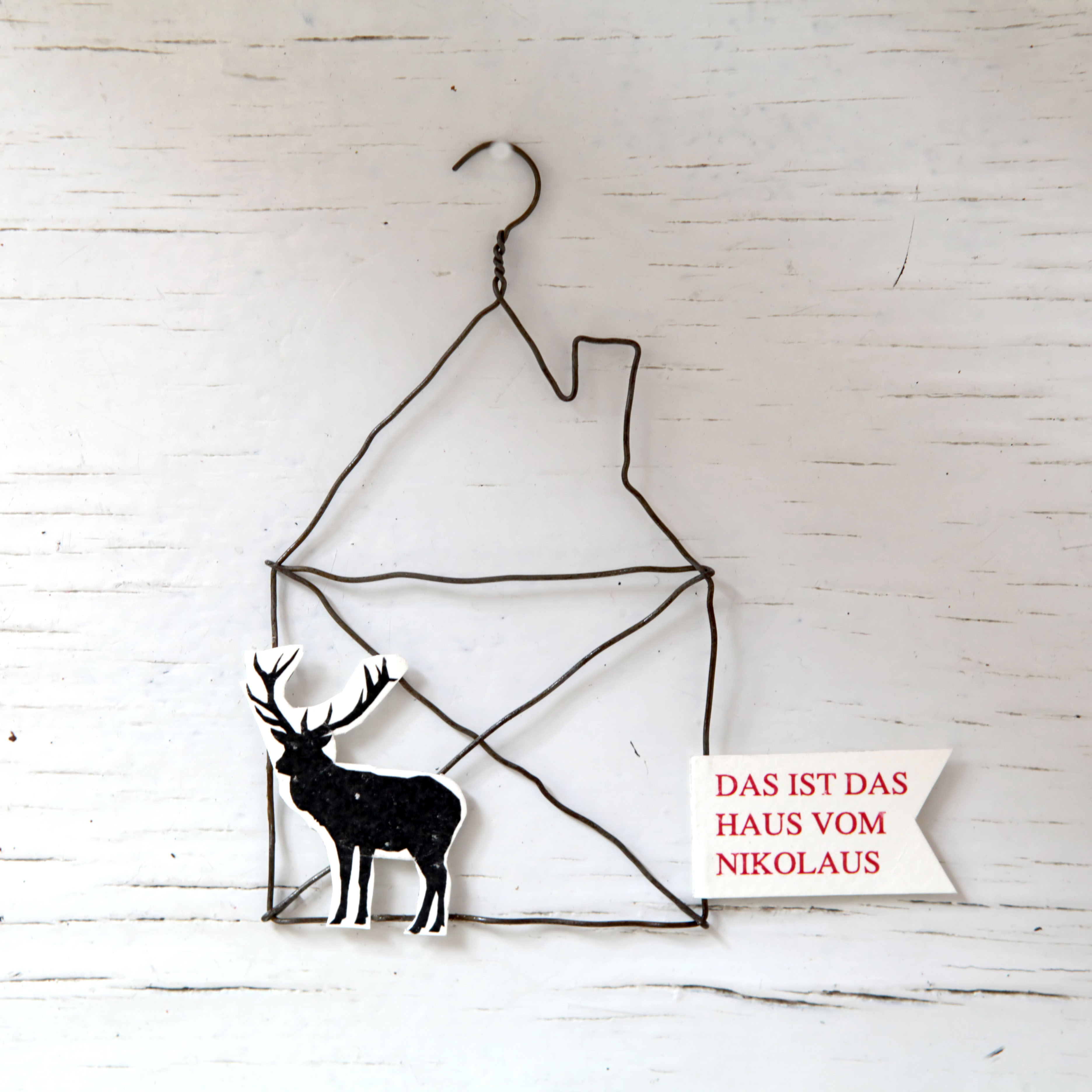 "Drahtornament - ""Das ist das Haus vom Nikolaus"" - Good old friends (Xmas)"