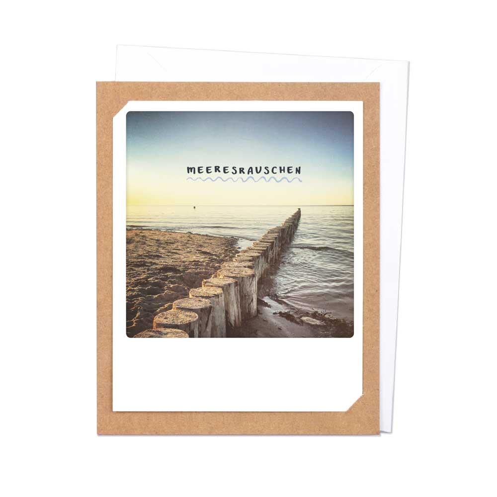 "Photo-Klappkarte ""Meeresrauschen"" - R-0114-DE-KK - Pickmotion"