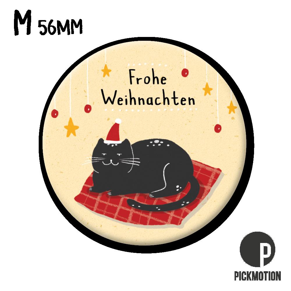 "Kühlschrank-Magnet - Medium - ""Frohe Weihnachten Katze"" - MM 0829-DE - Pickmotion (Xmas)"