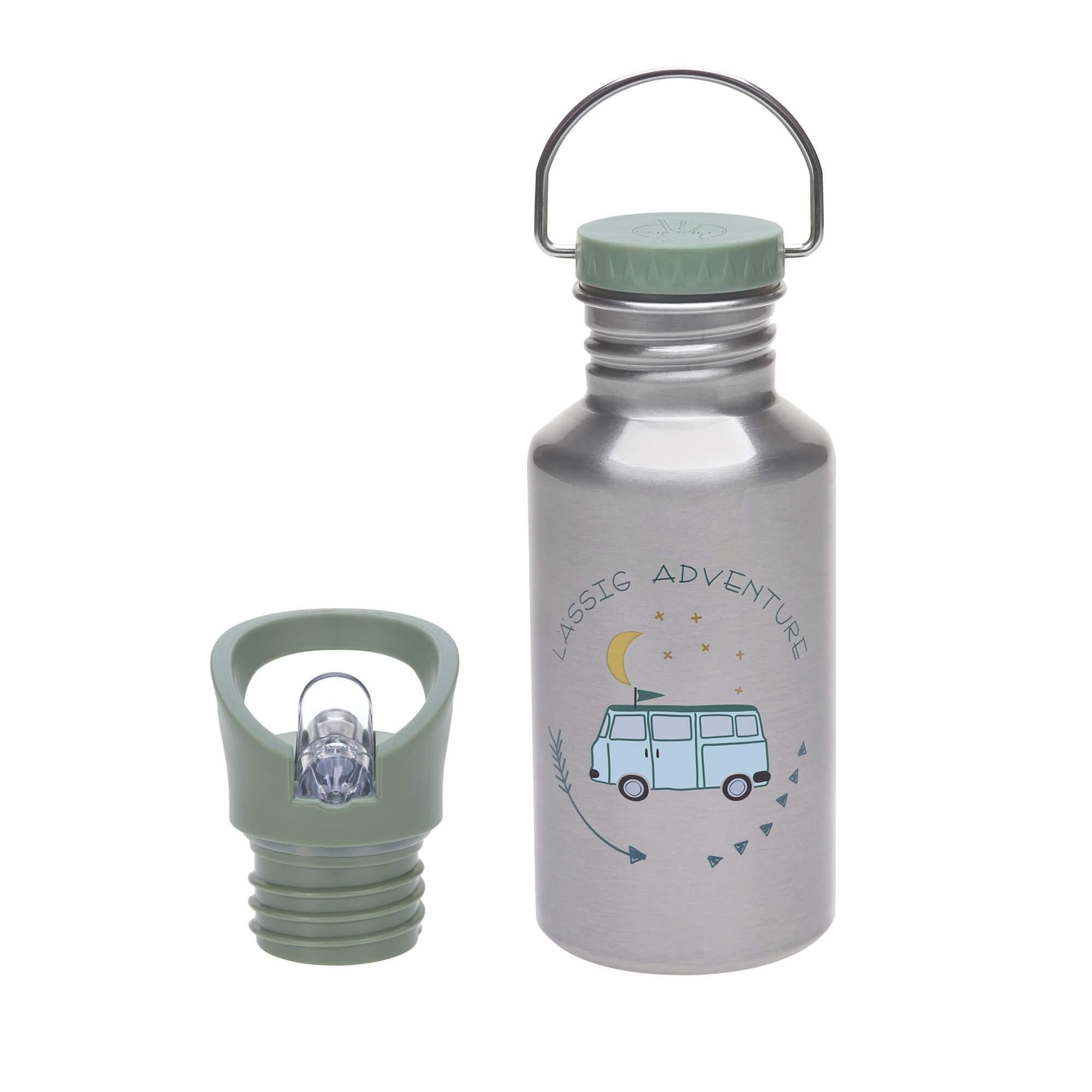 Kinder Trinkflasche Edelstahl (500ml) - Adventure Bus - Lässig