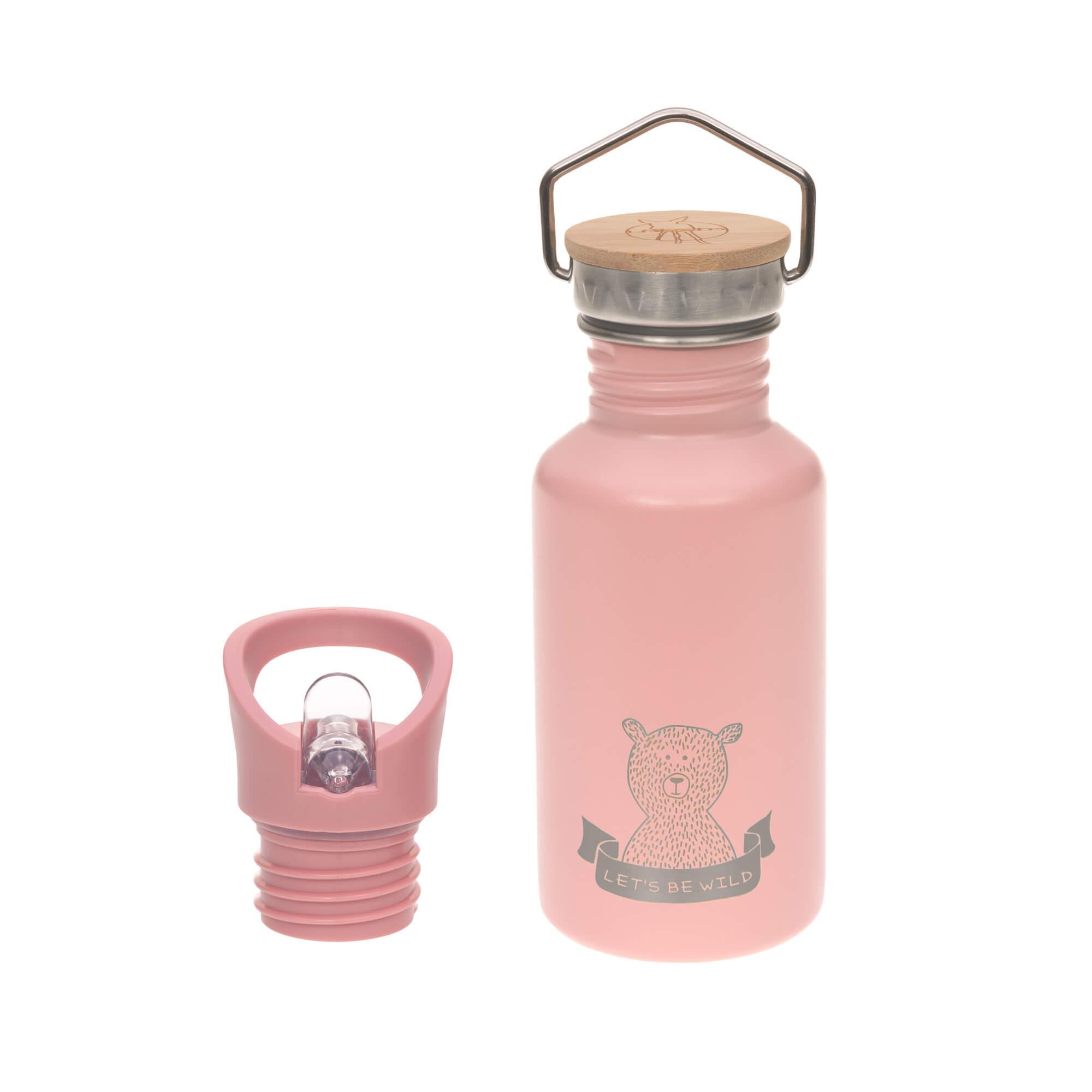 Kinder Trinkflasche Edelstahl (500 ml) - Adventure Rose - Lässig