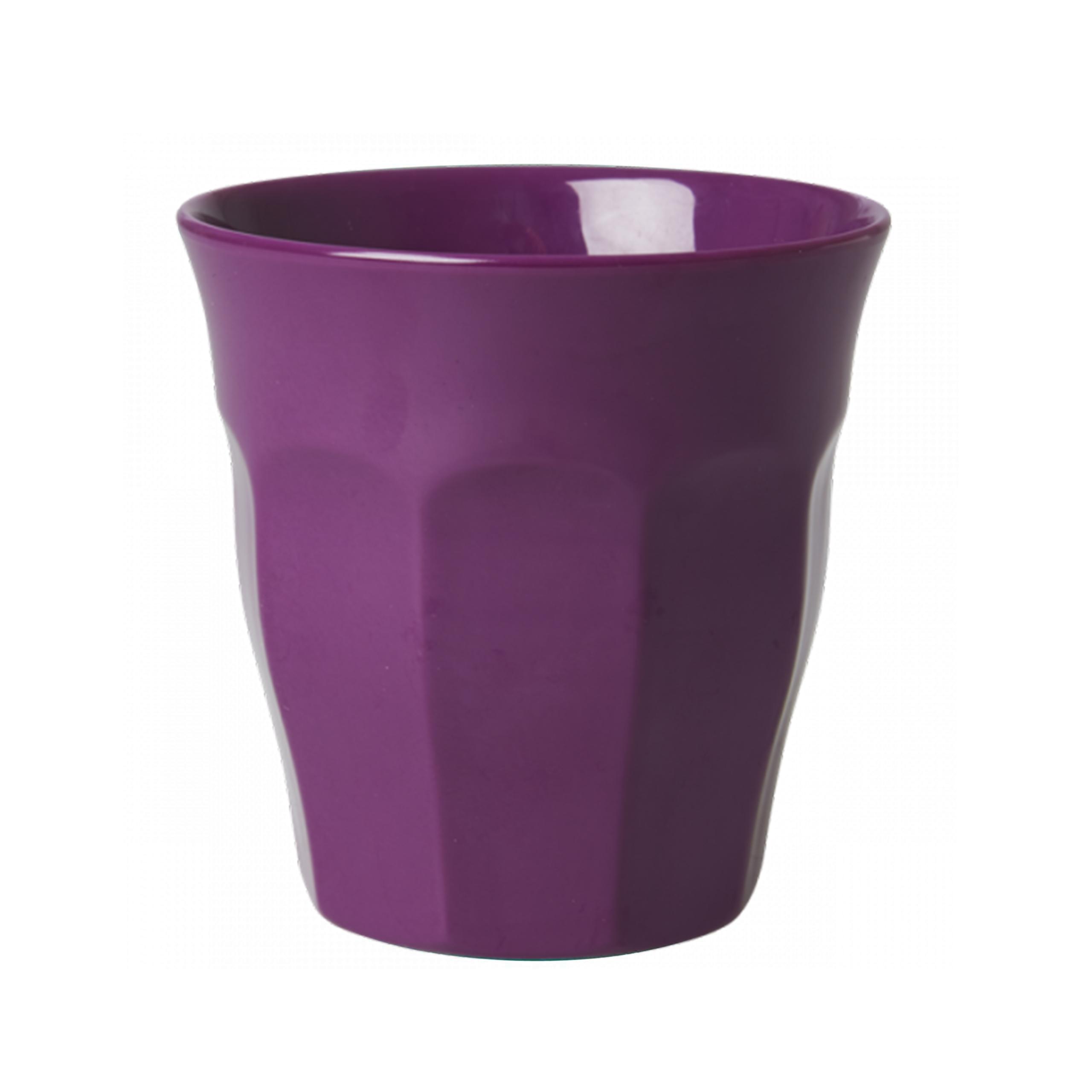 Medium Melamine Cup - Uni dunkelviolet - rice