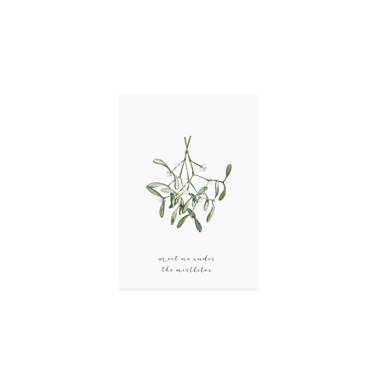 Postkarte - Mistelzweig - Eulenschnitt