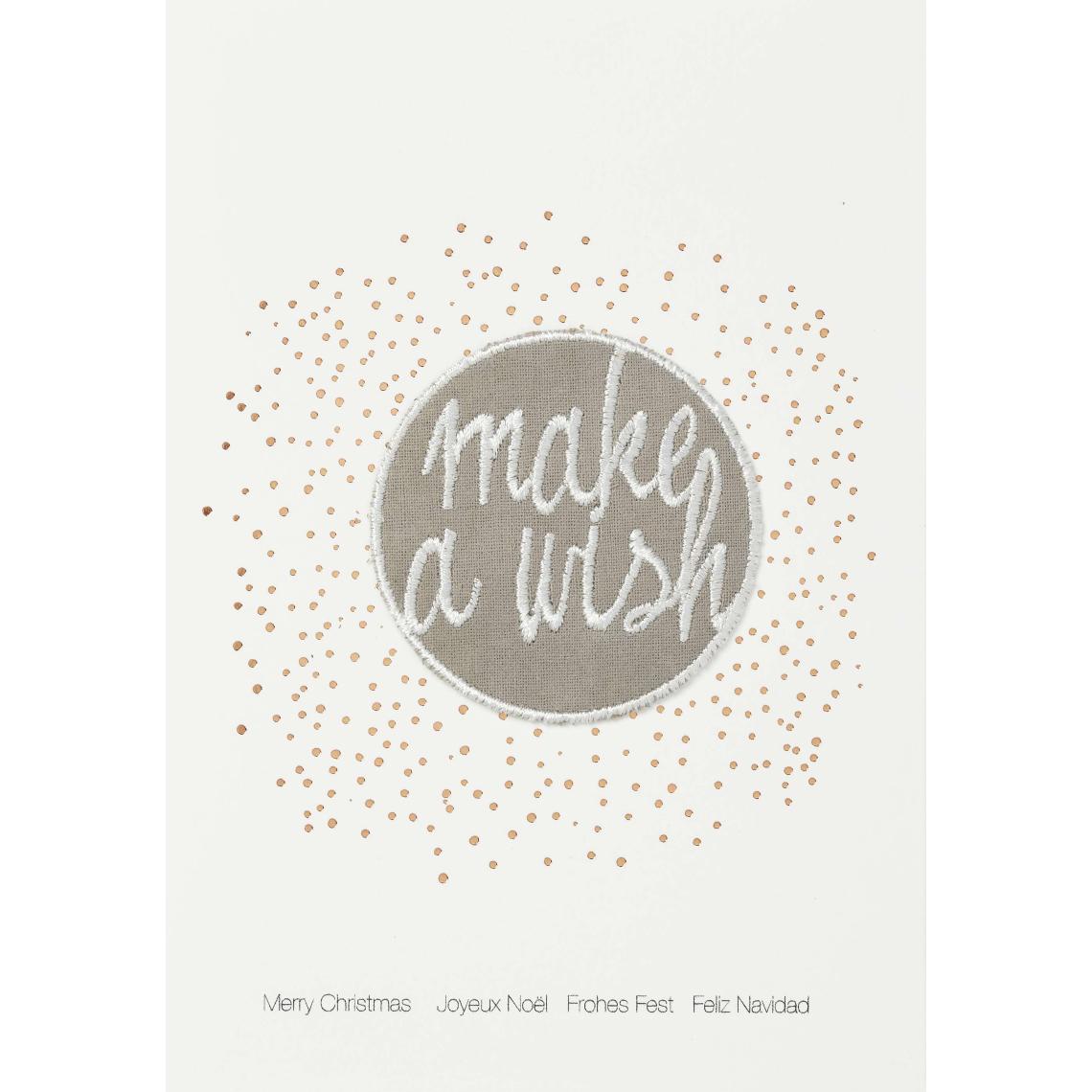 """Weihnachtsaufnäher Karte """"make a wish"""" - räder (Xmas)"""