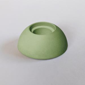 Kerzenhalter grün aus Kera-Guss - Wünschelicht