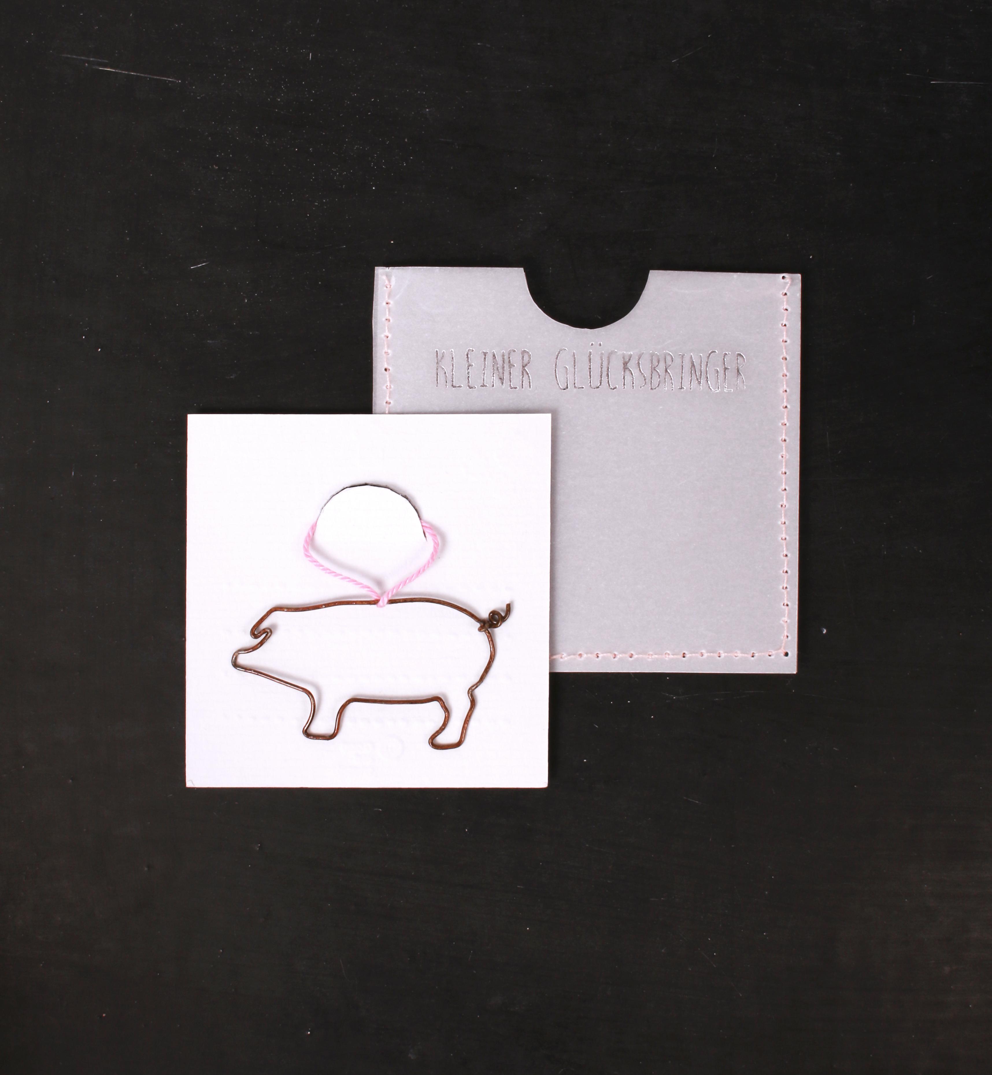Kleiner Glücksbringer - Glücksschweinchen - Good old friends