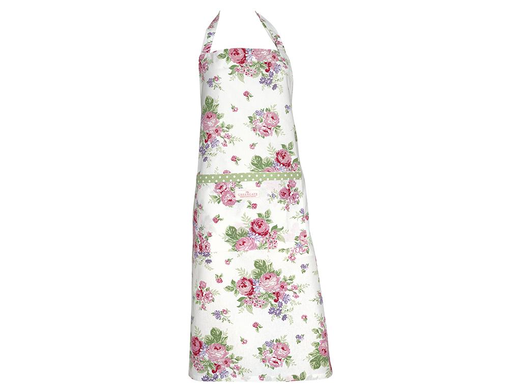 Küchenschürze - Rose white - Greengate