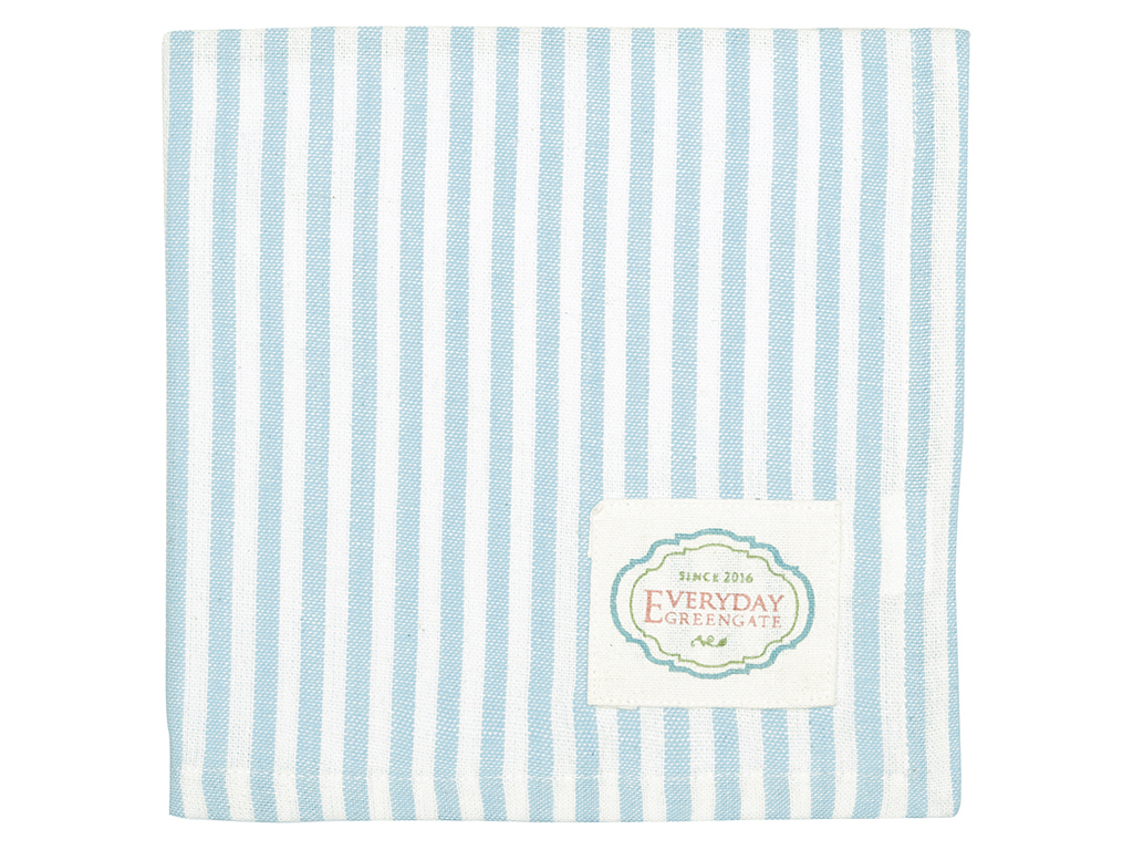 Stoffserviette - Alice stripe pale blue - Greengate