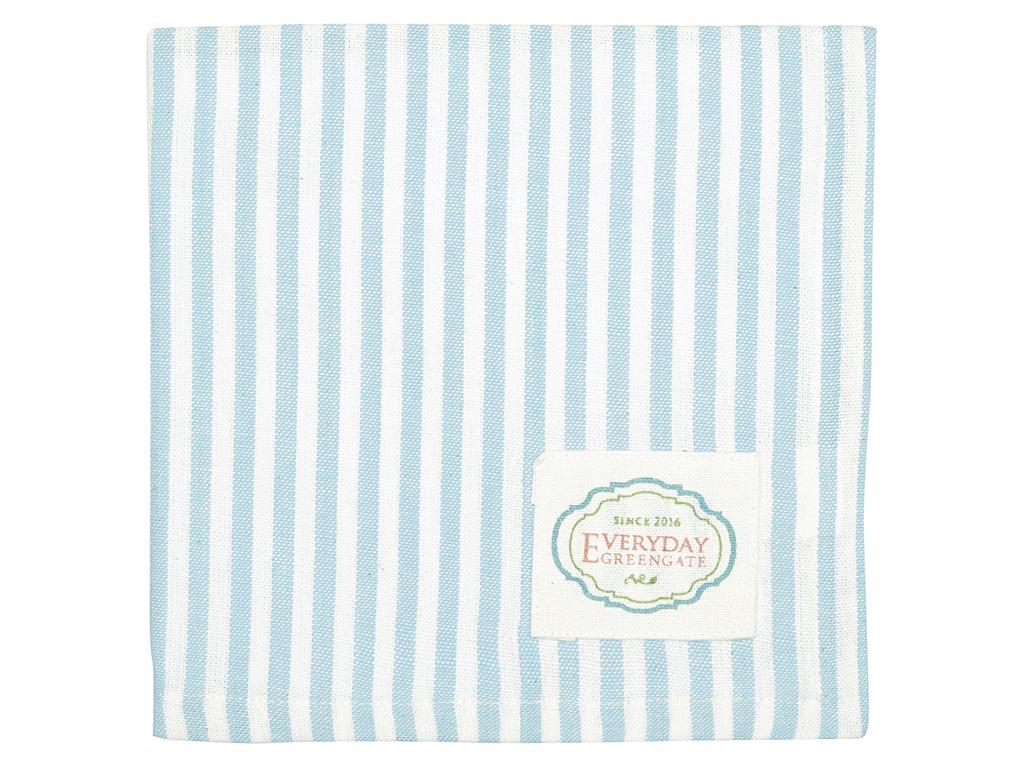 Stoffserviette - Alice stripe pale blue - Greengate