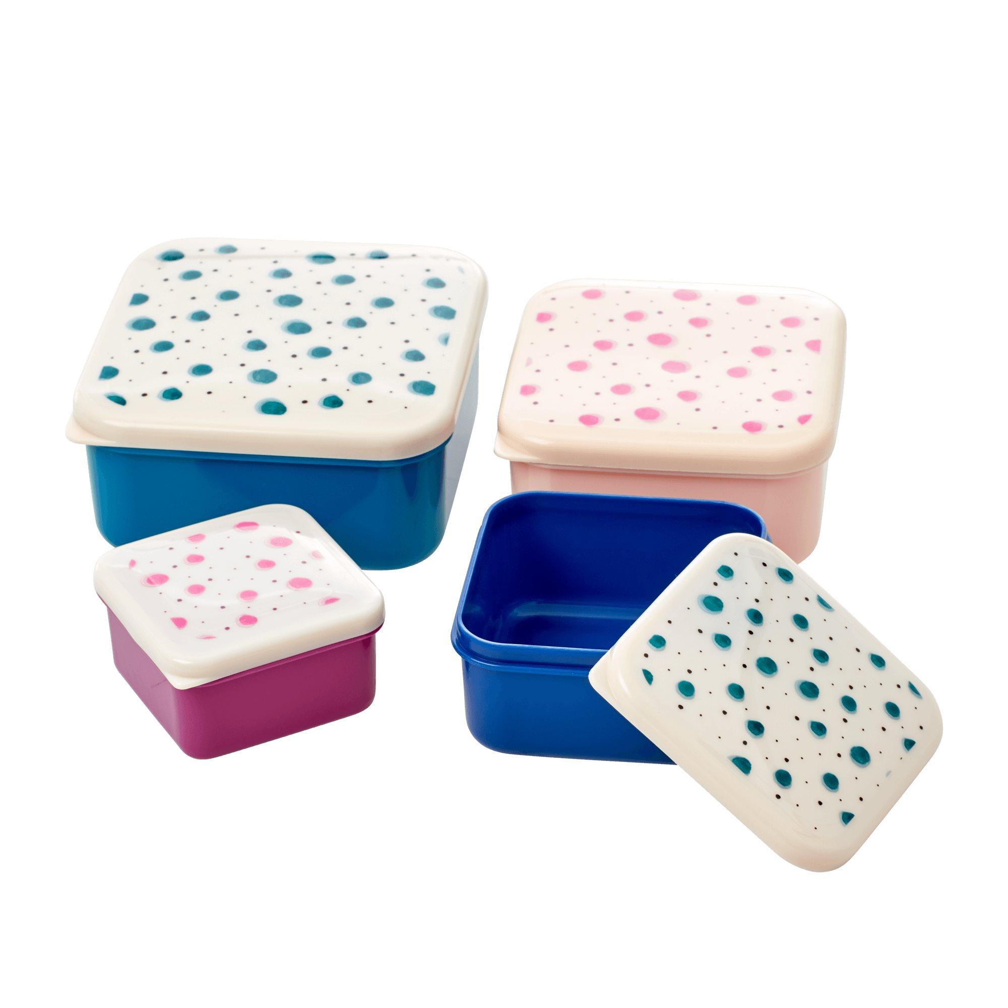 Snackboxen Set mit Punkten - rice