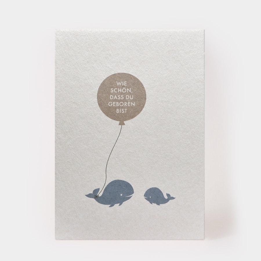 """Postkarte - """"Schön, dass Du geboren bist"""" - Kartenmarie"""