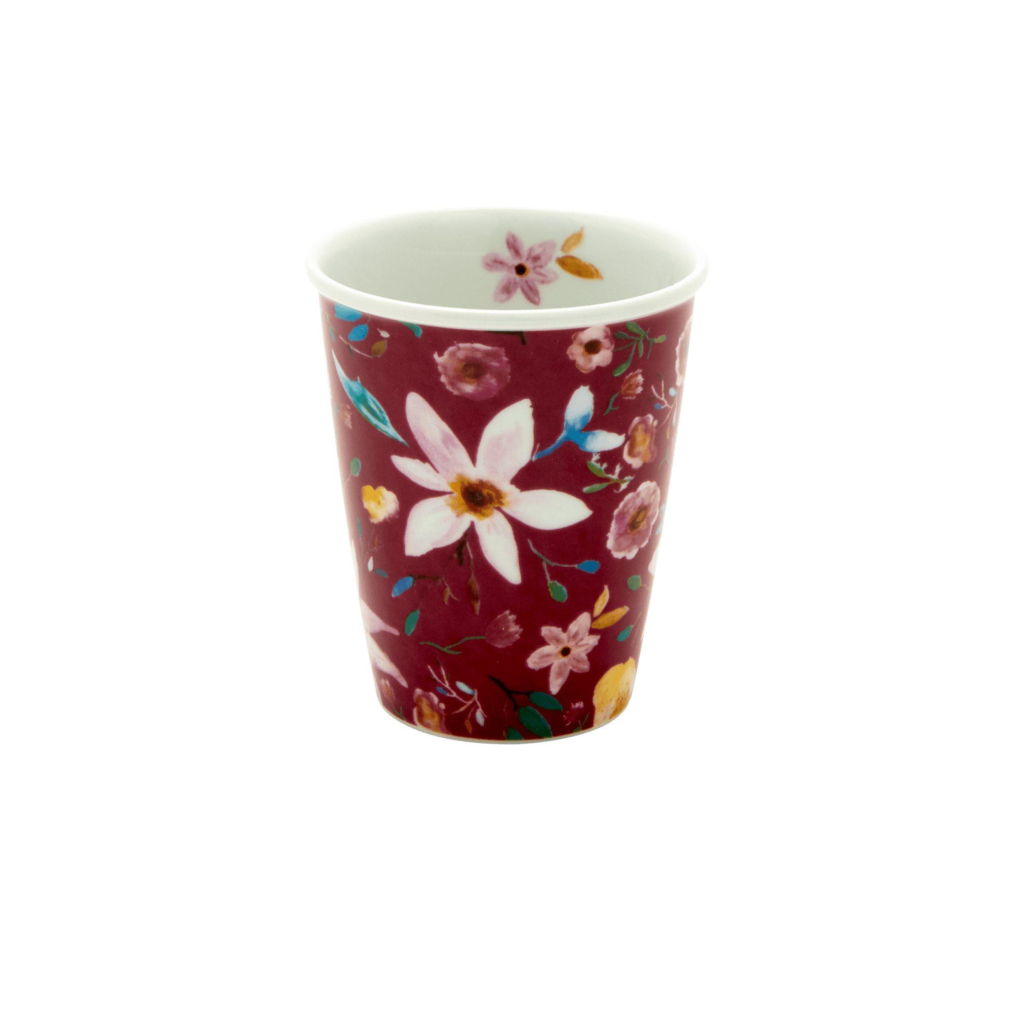 Porcelain Cup - Selmas Flower Print - rice