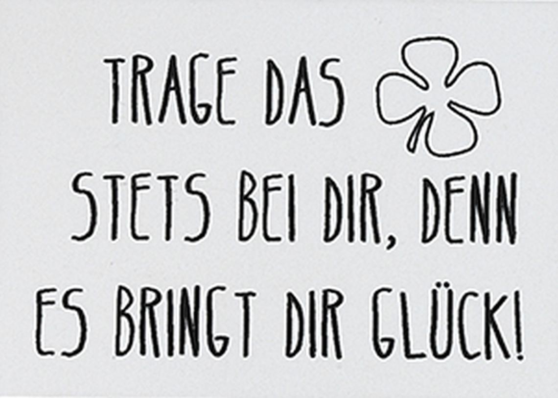 """Taschenbegleiter """"Kleeblatt"""" - räder"""