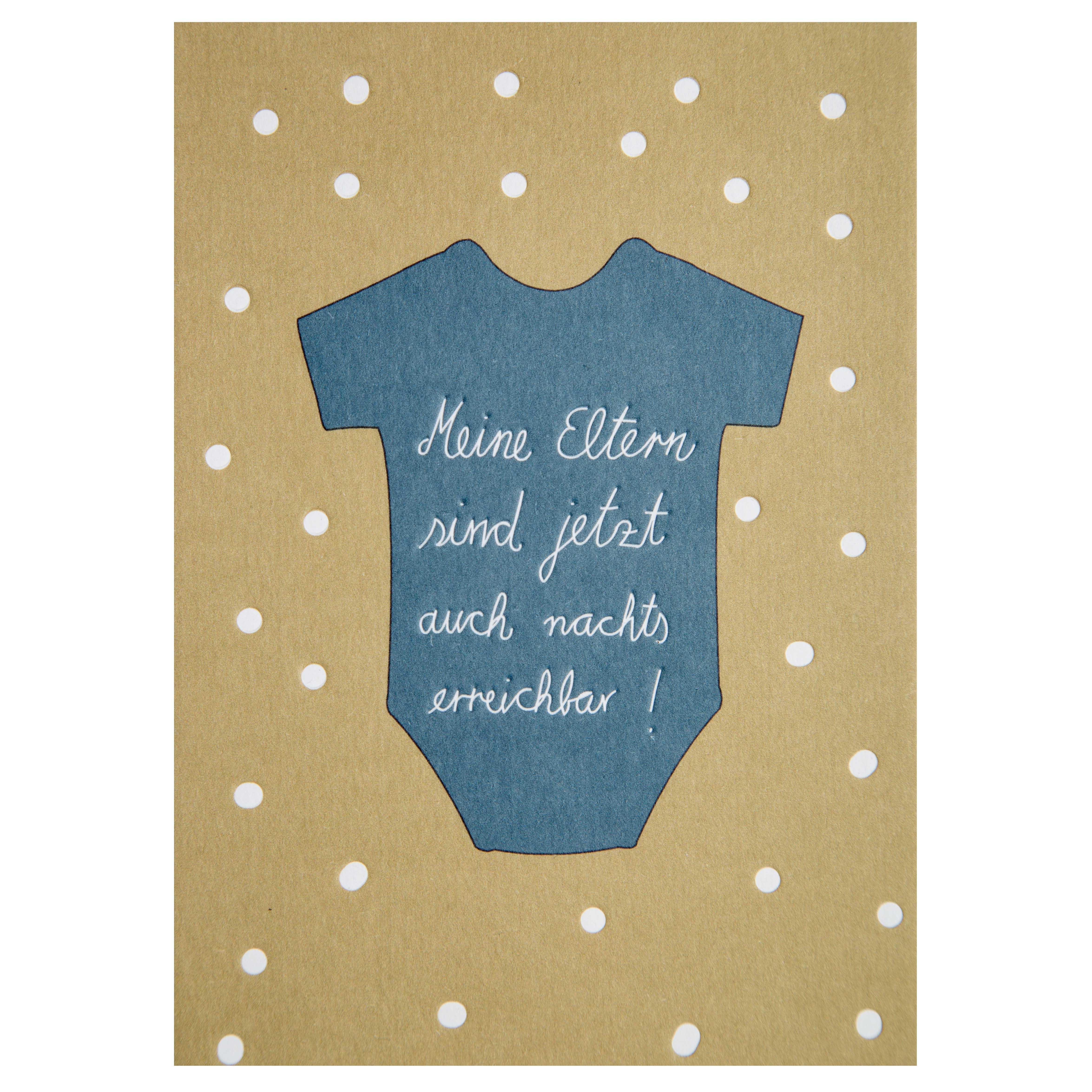 Baby Postkarte - Strampler - räder