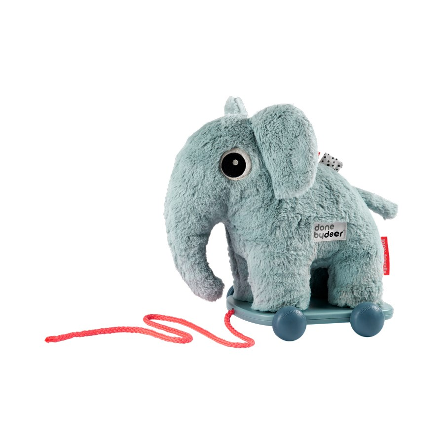 Nachziehtier Elefant blau - Pull along - Elphee - blue - Done by Deer