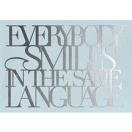 "Postkarte ""Everybody smiles in..."" - räder"