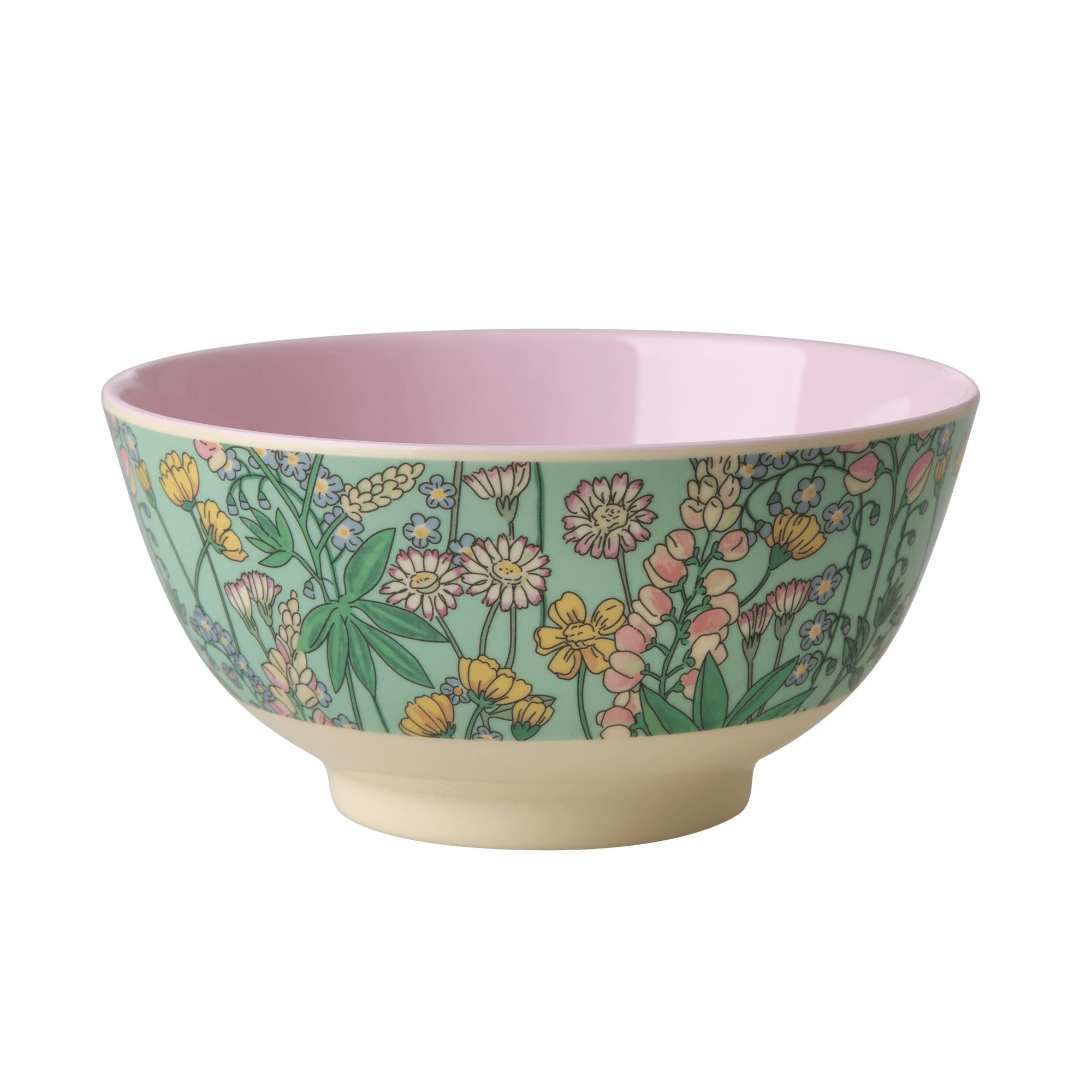 Medium Melamine Bowl - Lupin Print - rice