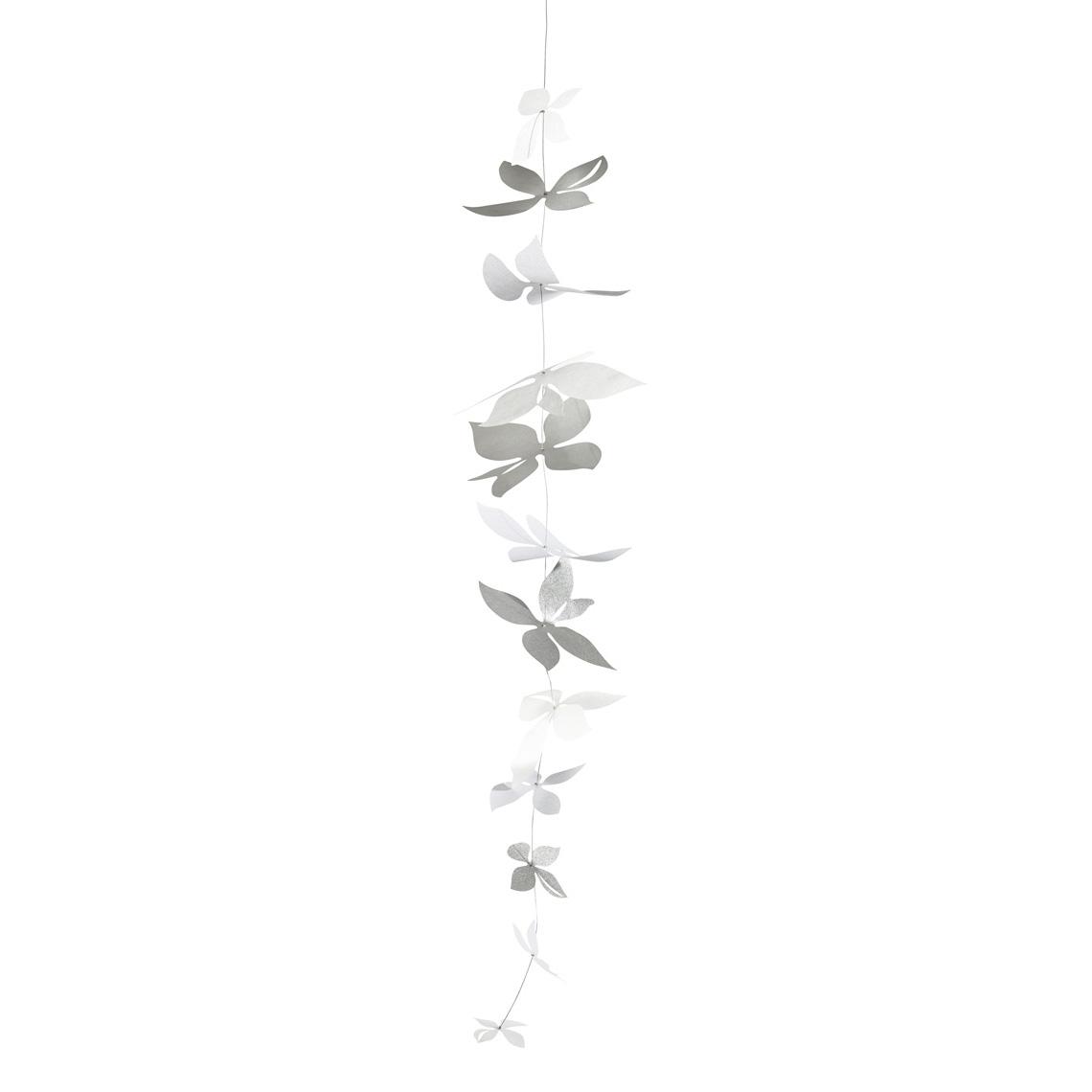 """Blütenkette XL """"Silver blossom"""" - räder"""