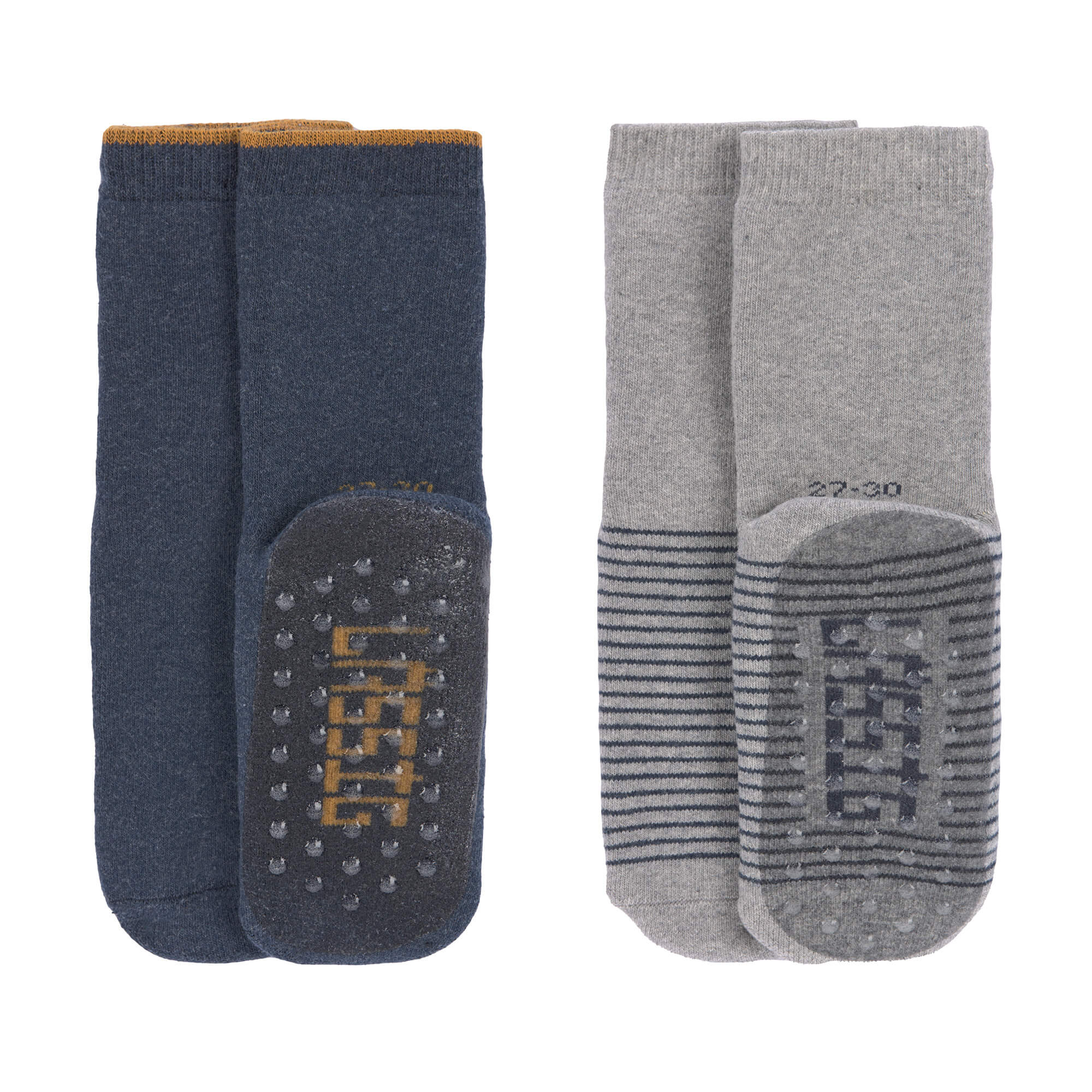 Kinder Antirutsch-Socken (2er-Pack) - Größe: 19-22 - Anti-Slip Socks, Blue Grey - Lässig