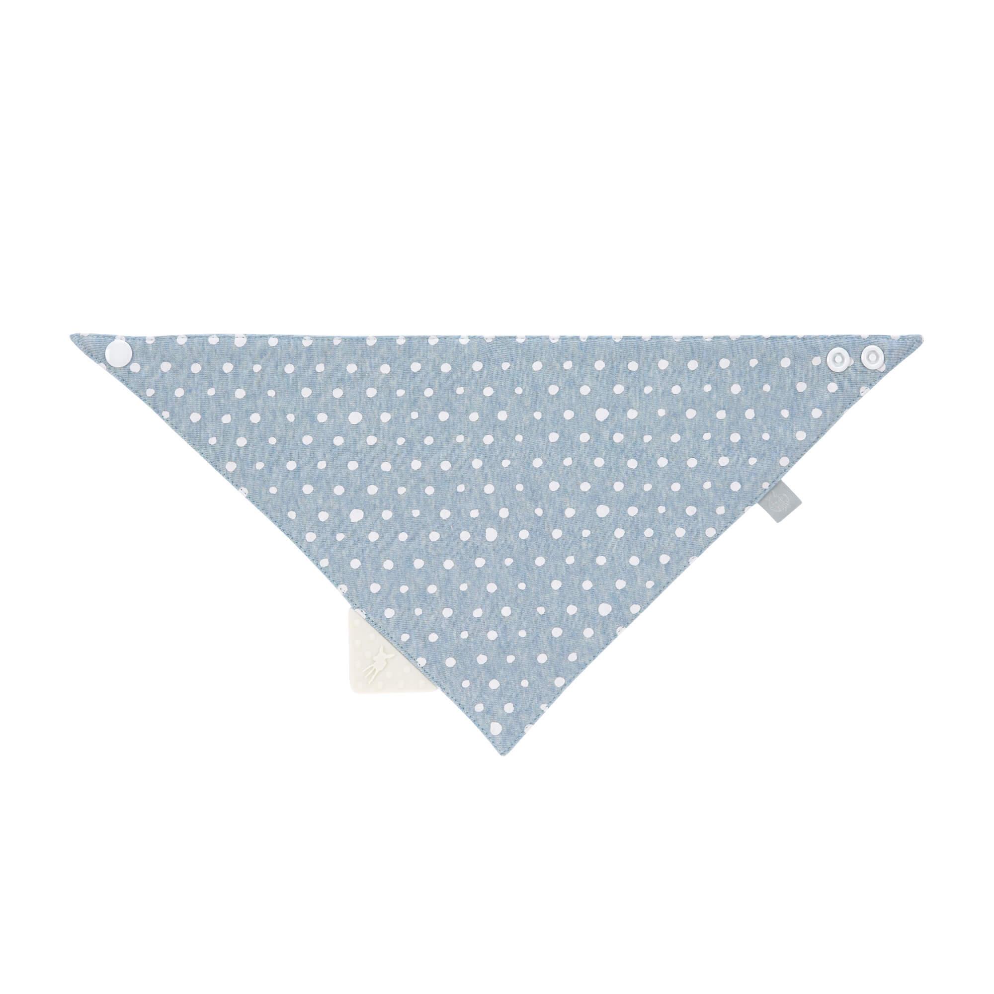 Dreieckstuch Baby mit Beißhilfe - Lela Light Blue - Lässig