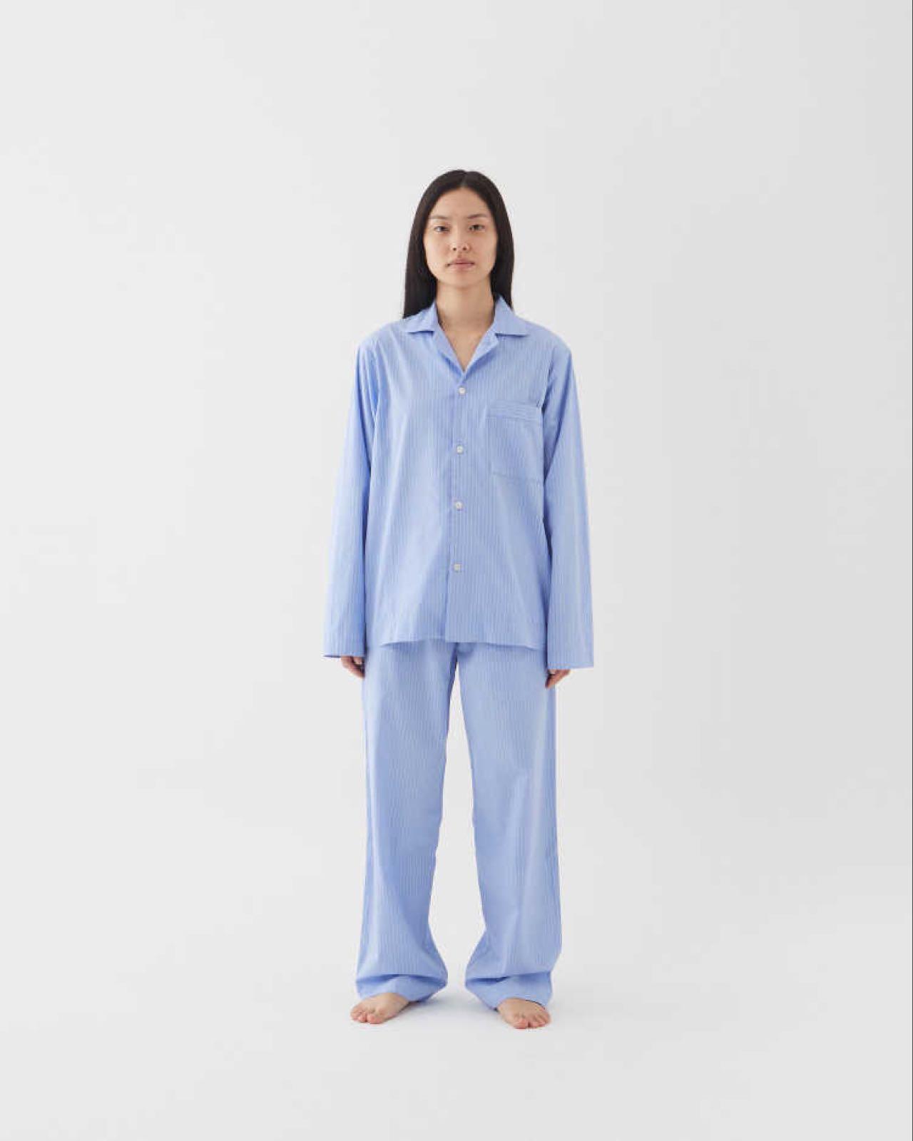 Tekla Poplin Sleepwear Pants Pin stripes