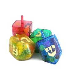 Dreidel filled with Jelly Beans