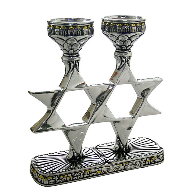 Shabbat Candlesticks - Magen David