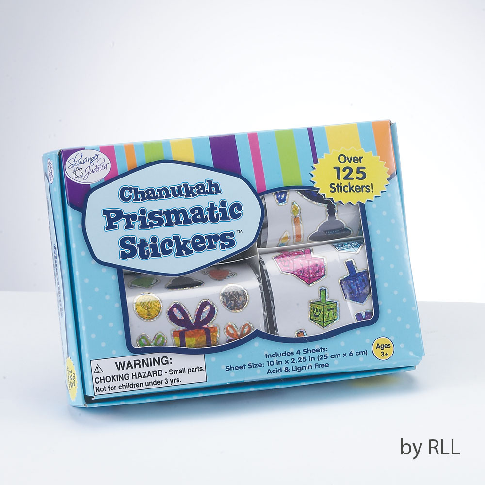 Chanuka stickers – box of 4 rolls