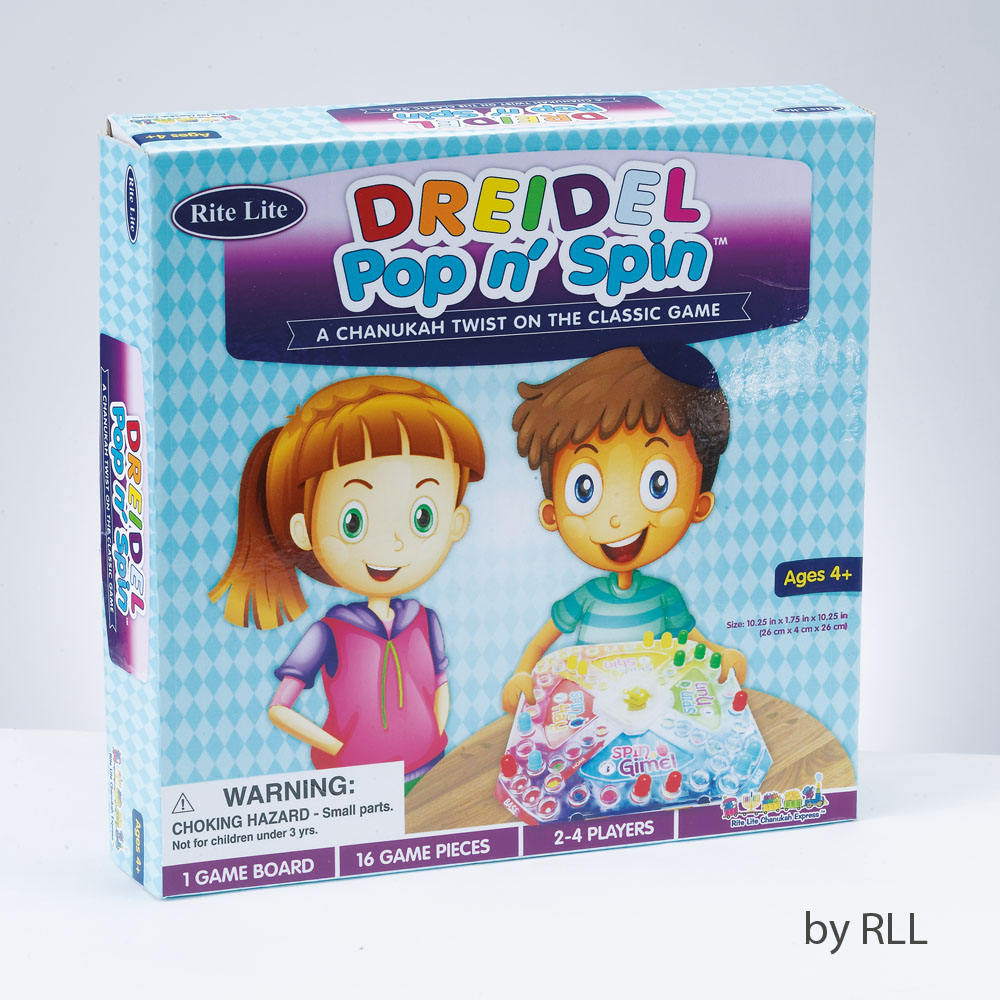 Dreidel pop and spin game