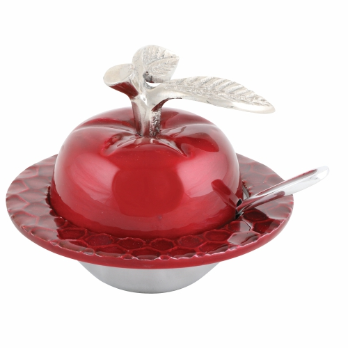 Aluminum Apple Honey Dish