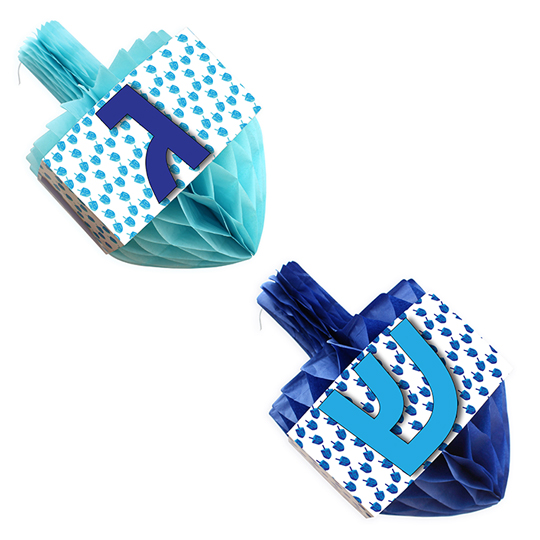 Honeycomb Dreidel decoration