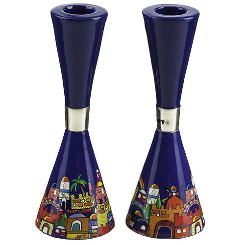 Shabbat Candlesticks, Jerusalem Design