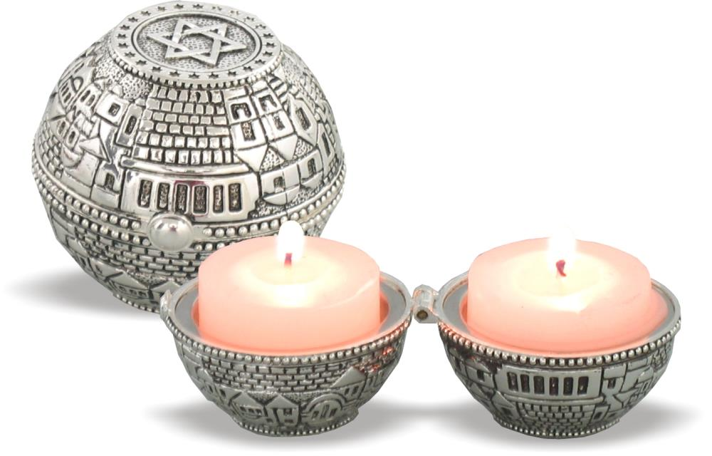 Shabbat candlesticks - travel size