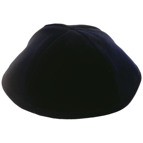 Kippa, velvet, dark Blue