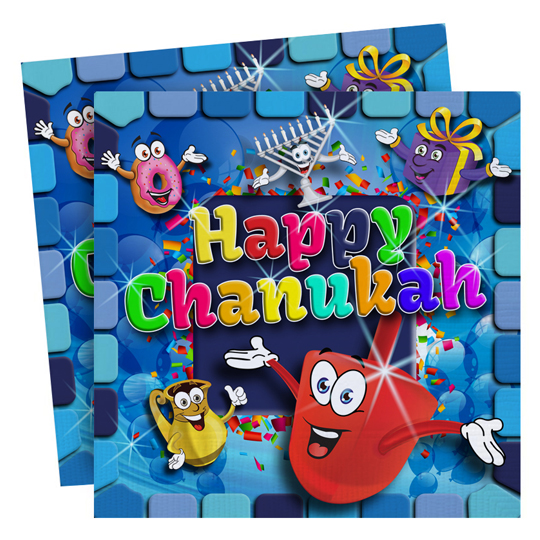 Chanuka Napkins - 20 st