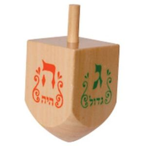 Wood Dreidel, small
