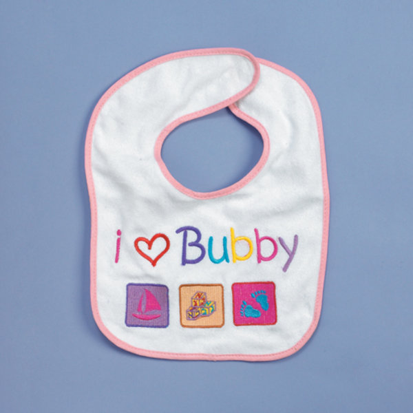 I love Bubby Bib - Pink